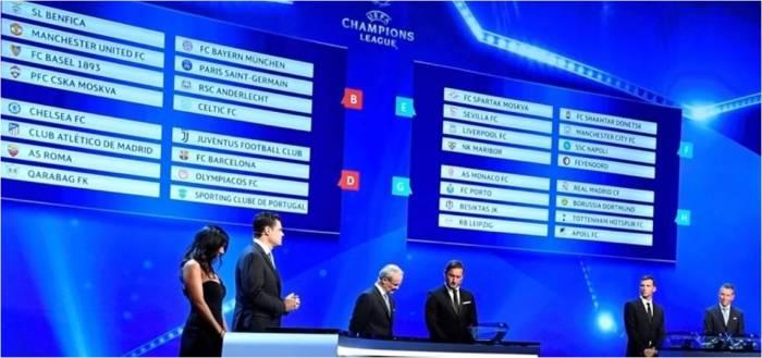 Champions League grupos 1